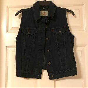 Levi's dark denim vest